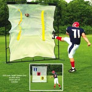 Fisher Deluxe Football Skill Zone Target Systems BLACK