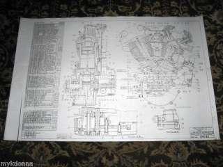 HARLEY DAVIDSON 61ci KNUCKLHEAD Engine BLUEPRINT EL HD