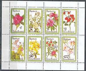 0394 Flora Flowers Blumen Guinea Eq Sheet MNH **