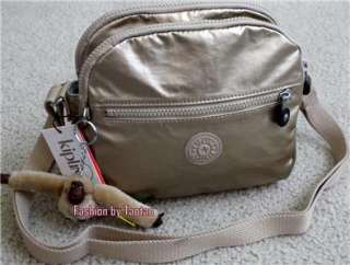 New w Tag Kipling Keefe Small Cross Body Bag Toasy Gold