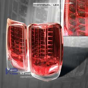 Cadillac Escalade Led Tail Lights Red Clear LED Taillights