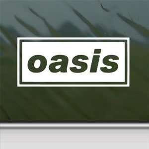 Oasis White Sticker English Rock Band Laptop Vinyl Window