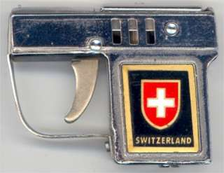 OLD NOVELTY SWITZERLAND GUN CIGARETTE LIGHTER