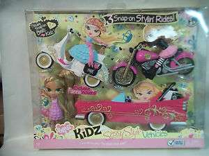 Bratz Kidz Sassy Style Vehicles with Doll NIB