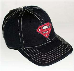 SUPERMAN Shield Logo DC Comics Navy BASEBALL CAP HAT