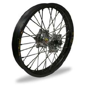 Pro Wheel Supermoto Rear Wheel Set   17x5.00   Black Rim/Silver Hub 27