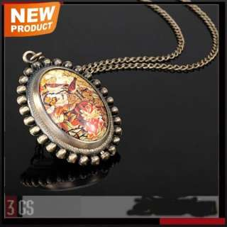 Birds Color Drawing Series Bronzy Ladies Womens New Necklace Quartz