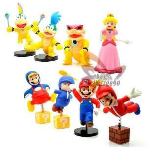 super mario bros 5 7 figure toy 8pcs set Toys & Games