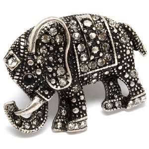 Crystal Large 1.5 Elephant Ring   Adjustable Stretch Band Jewelry