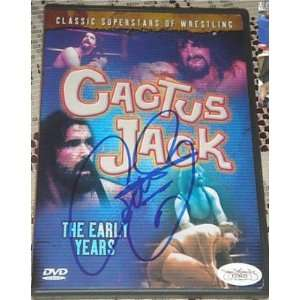 CACTUS JACK Mick Foley Signed DVD The Early Years JSA