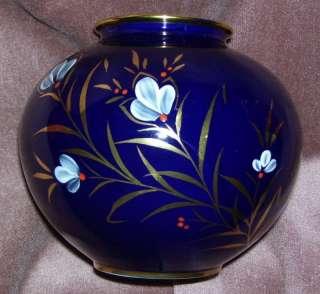 Echt Kobalt SELB Bavaria Golb meirstein Bulbous Vase