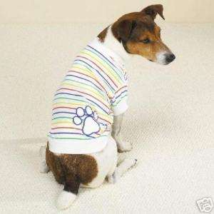 CASUAL CANINE ~ Candy Stripe Dog Tee Shirt XS M L XL