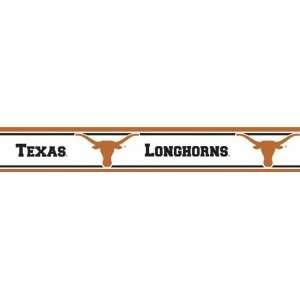 RBP TEX Texas Longhorns Licensed Peel N Stick Border: Toys & Games