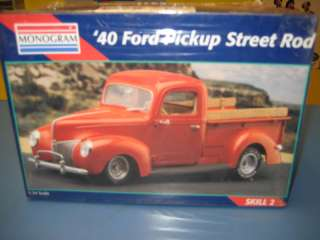 MONOGRAM 40 FORD PICKUP STREET ROD NIB