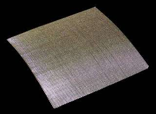 Custom Cut of Stainless Steel Woven Wire Mesh.