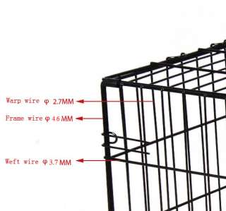 Doors Large Folding Dog Pet Cage Crate Kennel High Quality