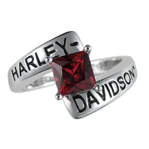 Harley Davidson Ladies Crossroads Birthstone Ring   January Garnet