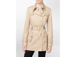 calvin klein belted trench coat womens