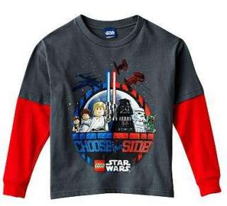 STAR WARS LEGO Long Sleeve Shirt Tee 4 5 6 7 Glow in the Dark