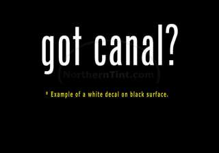 got canal? Funny wall art truck car decal sticker