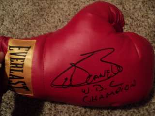 Saul El Canelo Alvarez Signed Boxing Glove inscribed WBC Champion