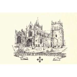 Greetings Card St Marys And St Edwards Ottery Devon
