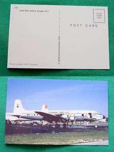 CARIB WEST AIRLINES DOUGLAS DC 6 PLANE VINTAGE POSTCARD