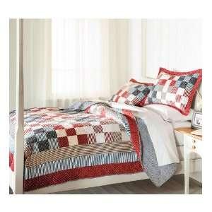 100% Cotton Americana Patchwork Full/Queen Quilt Set