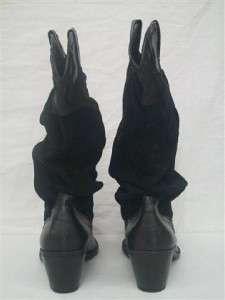 Nice Trendy Black Western Cowboy Boots Size 9 SPLASH FASHION