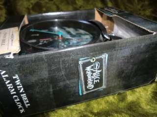 Disney Twin Bell Alarm Clock Cheshire Cat Box Tim Burton