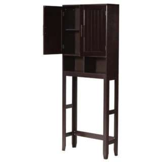 New Catalina Space Saver Over Toilet Bathroom Cabinet   Espresso