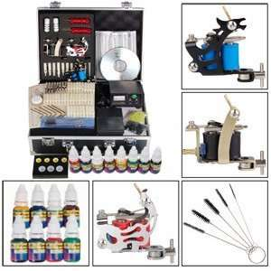 Visual Shock 3 Guns Series Tattoo Tattooing Machine Kit Set Equipment