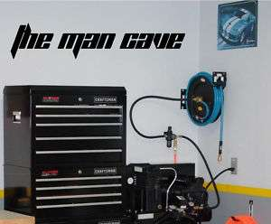 the man cave Vinyl Wall Decal Lettering Decor Man Room