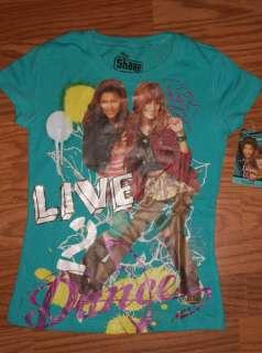 ROCKY BLUE & CECE JONES Disney SHAKE IT UP Baby Doll T Shirt NEW Girls