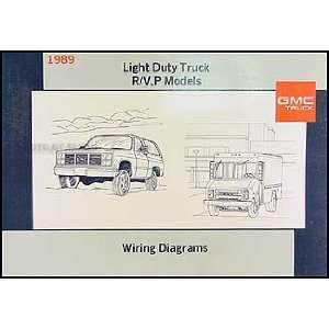 1989 GMC P Chassis Wiring Diagram Original Motorhome Step