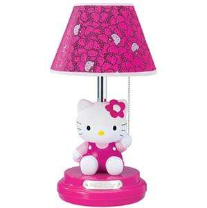 HELLO KITTY DECOR GIRLS TABLE DRESSER LAMP**DARK PINK**