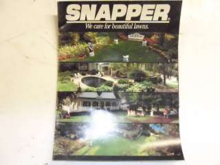 Snapper Riding Mowers Old Sales Brochure Classic