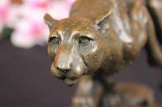 Art Sculpture Running Cheetah Figurine Figure Statue Deco