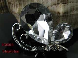 Charm butterfly Rhinestone Crystal & Enamel brooch HX0010