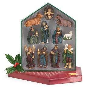 Burton Christmas Nativity 11pc Porcelain Ornament Set with Display Box