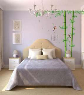 DIY Removable Cute Bamboo Vinyl Room Wall sticker Paper Decal Art