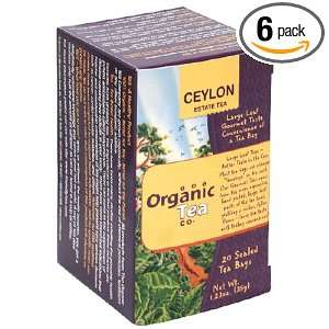 The Organic Tea Co., Organic Tea, Ceylon Estate, Tea Bags (20 Count