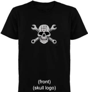 GearHead Skull Logo on the front, nice clean design, look good without