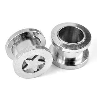Stainless Steel Screw Ear Plug Tunnel Stretcher Flesh Gauge Expander