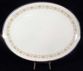 Sheffield Fine China IMPERIAL GOLD Oval Serving Platter