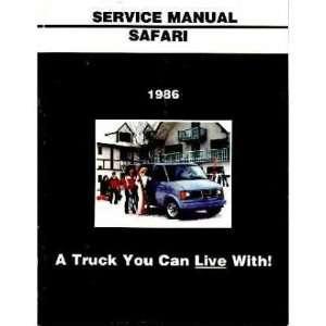 1986 GMC SAFARI VAN Shop Service Repair Manual Book Automotive