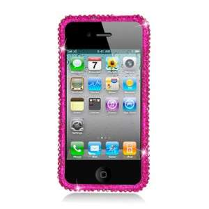 For Apple iPhone 4, 4S FULL DIAMOND PINK CRYSTAL PROTECTOR CASE Cell