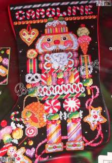 CANDY NUTCRACKER Stocking Christmas Counted Cross Stitch Kit