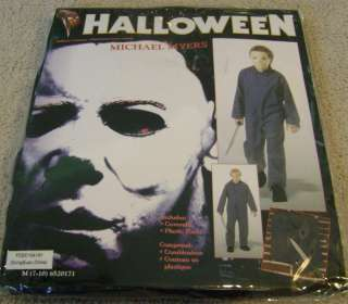 Halloween MICHAEL MYERS Boys Jumpsuit Costume sz M 7 10