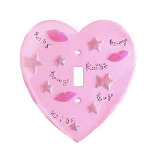 Hugs & Kisses Heart Shaped Single Switch Plate Cover